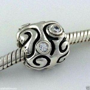 PANDORA 925 Silver Day Dream Clear Cz Bead Charm